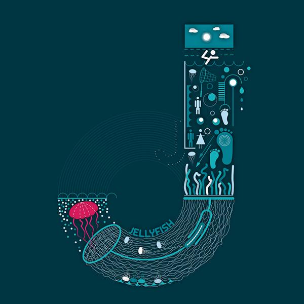 medúza - angol abc gyerekeknek