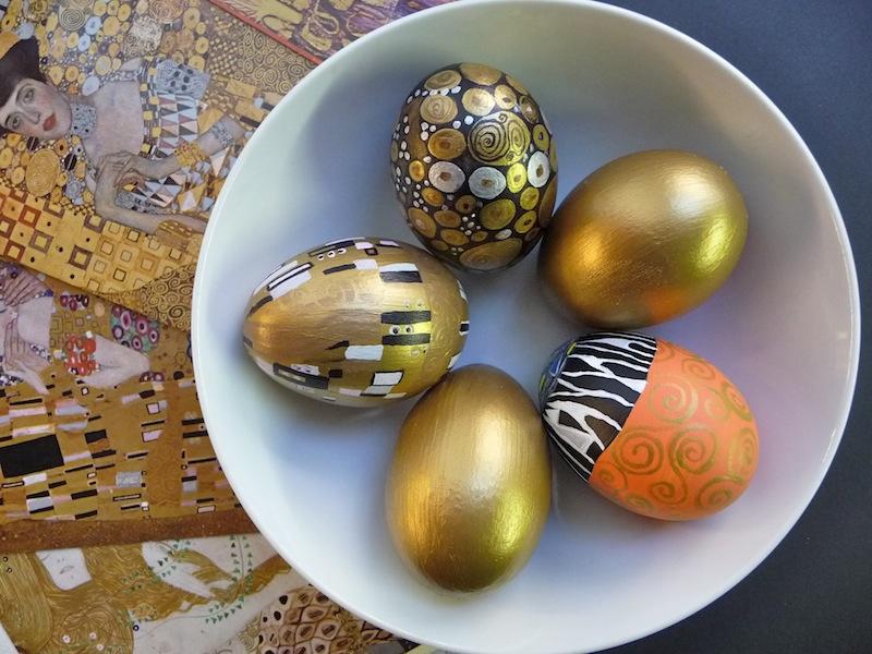 Gustav Klimt - művészi húsvéti tojások