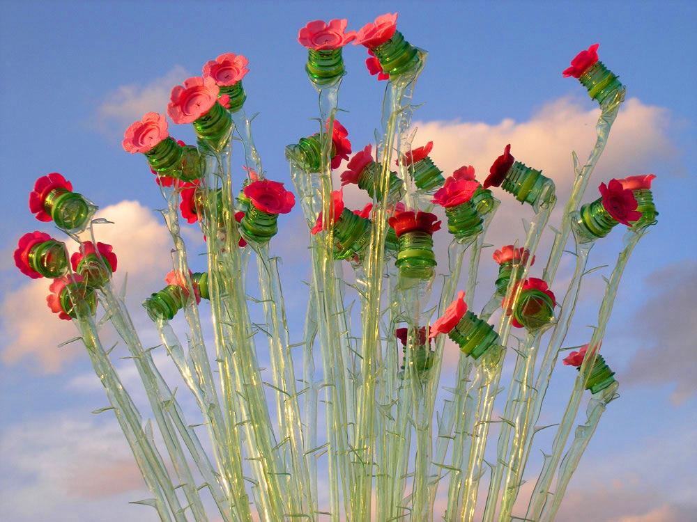 PET palack virágok