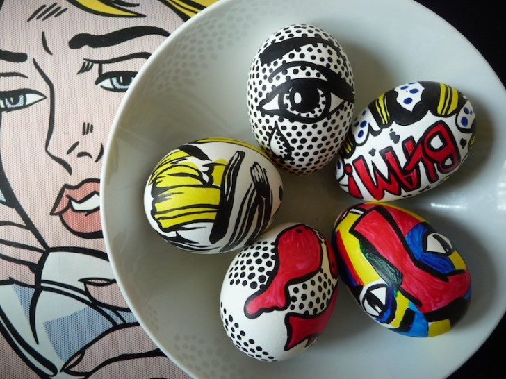 Roy Lichtenstein húsvéti tojás
