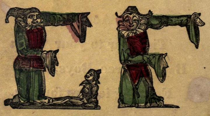 a bohócok és a betűk - 1850