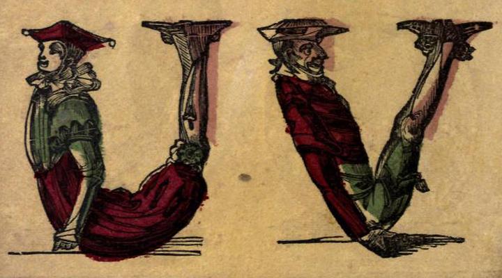 akrobatikus betűk - 1850