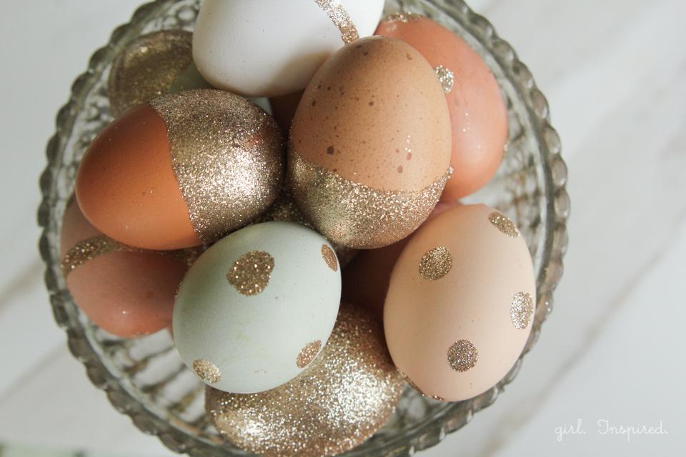 csillámok - húsvéti tojás