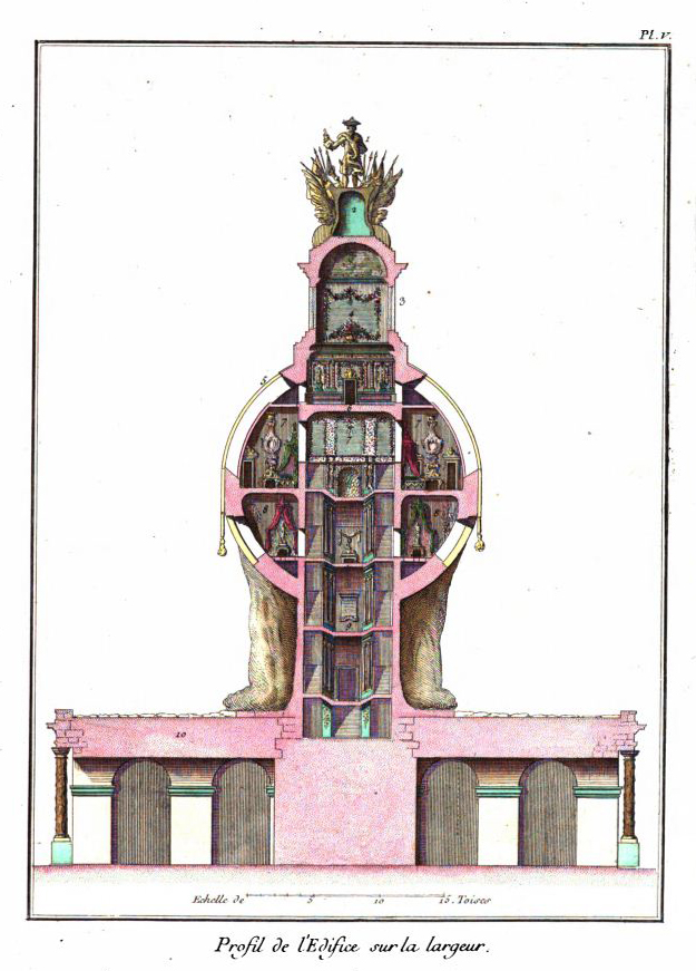 ez lehetne Párizs egyik látványossága a Diadalív helyett - terv 1758-ból