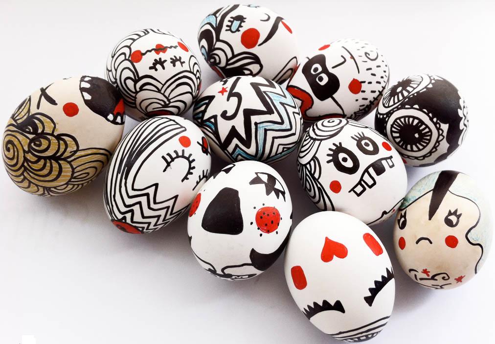 fura fejek - különleges húsvéti tojások