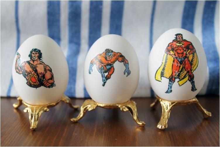 tetovált szuper tojások - húsvéti ötletek