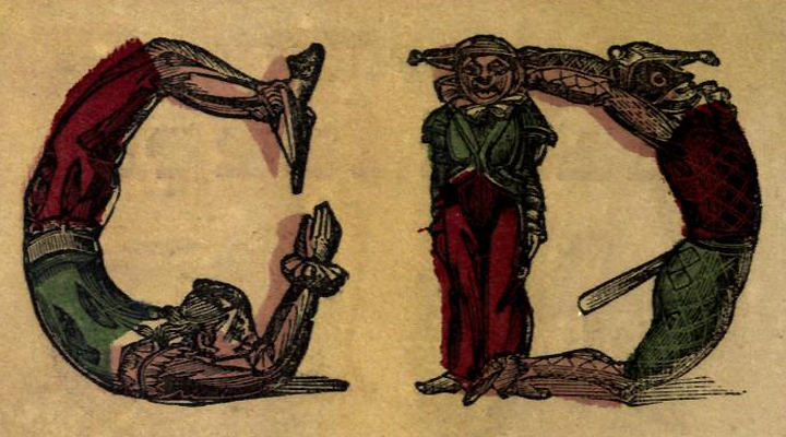 tipográfia gyerekeknek - akrobatikus betűk - 1850