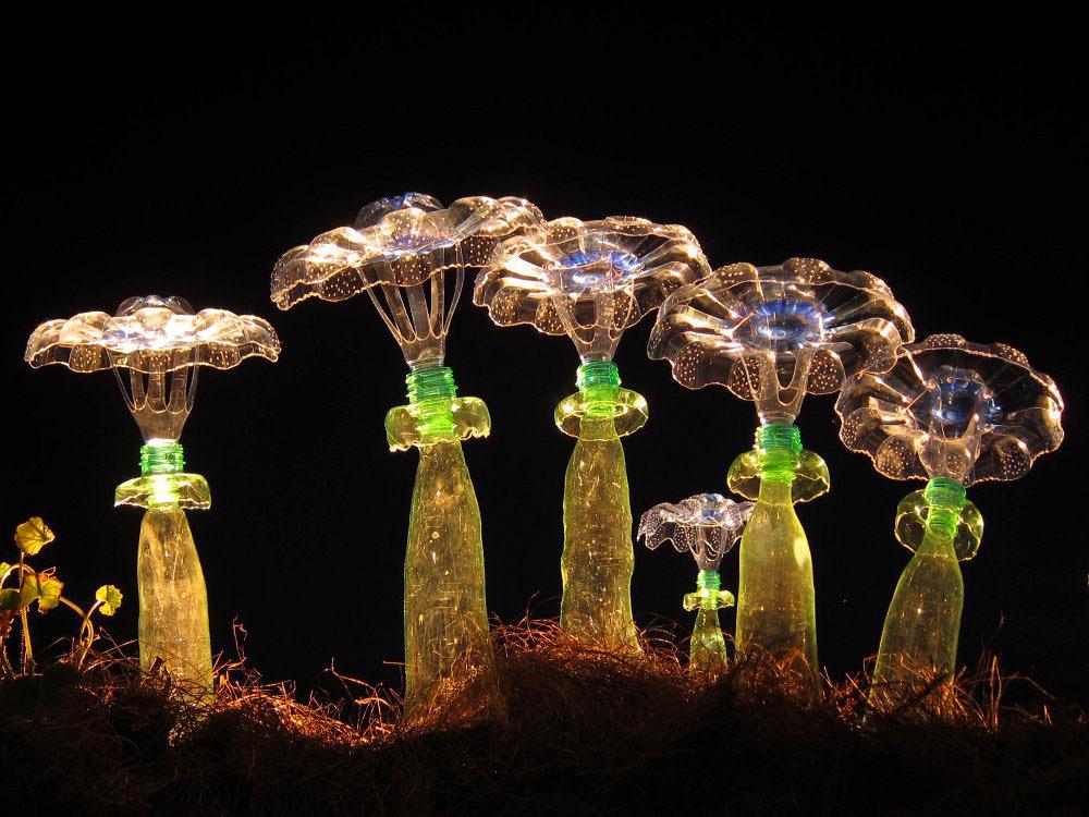 varázslatos PET palack kert