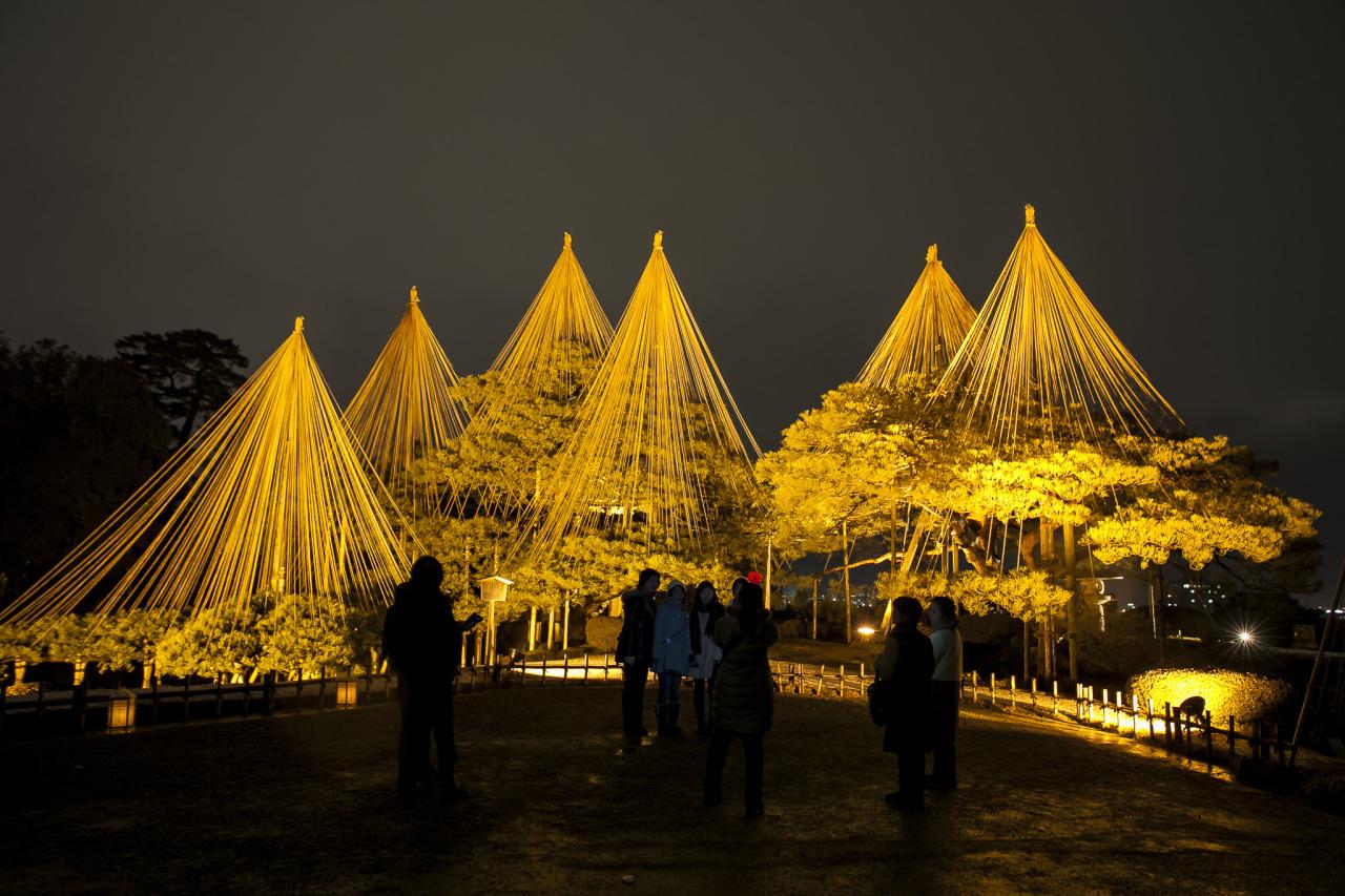 látványos megvilágítás - yukitsuri - Japán