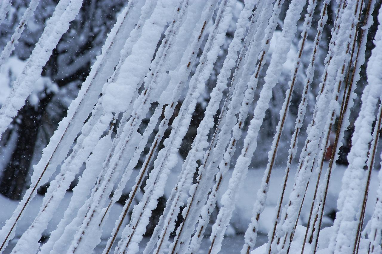 téli részletfotó yukitsuri kötelekkel