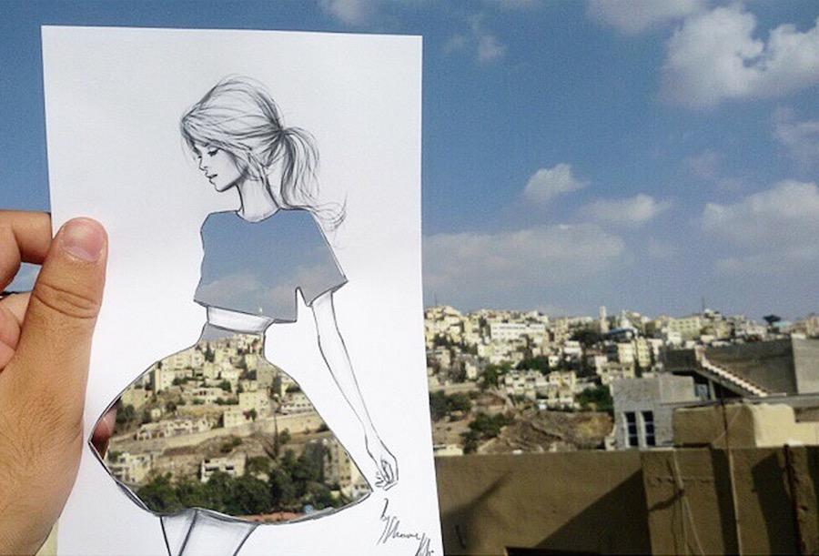 Ammán, Jordánia - Shamekh Bluwi különleges városképei divatrajzokon
