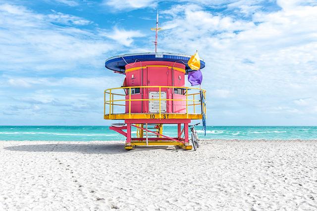 Miami Beach vizimentő tornyok