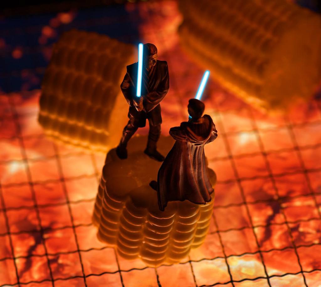 Anakin és Obi-wan kűzdelme - Starwars dioráma