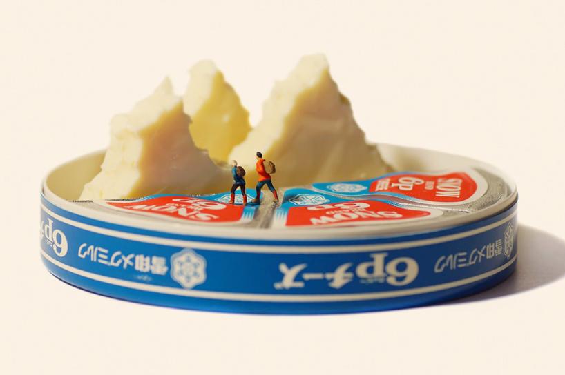hegymászás - dioráma sajtokkal