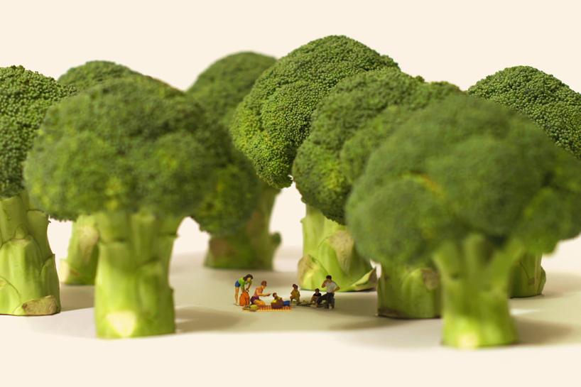 piknik a brokkoli fák árnyékában - miniatűr világ