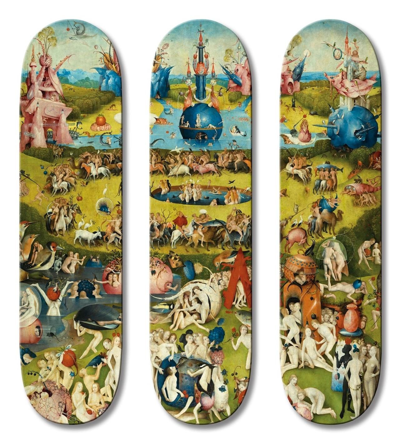 Hieronymus Bosch alkotása gördeszkákon