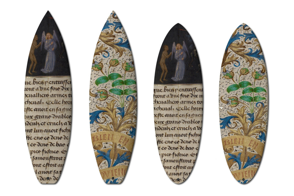 XV. századi kéziratok  - különleges szörfdeszkák, gördeszkák
