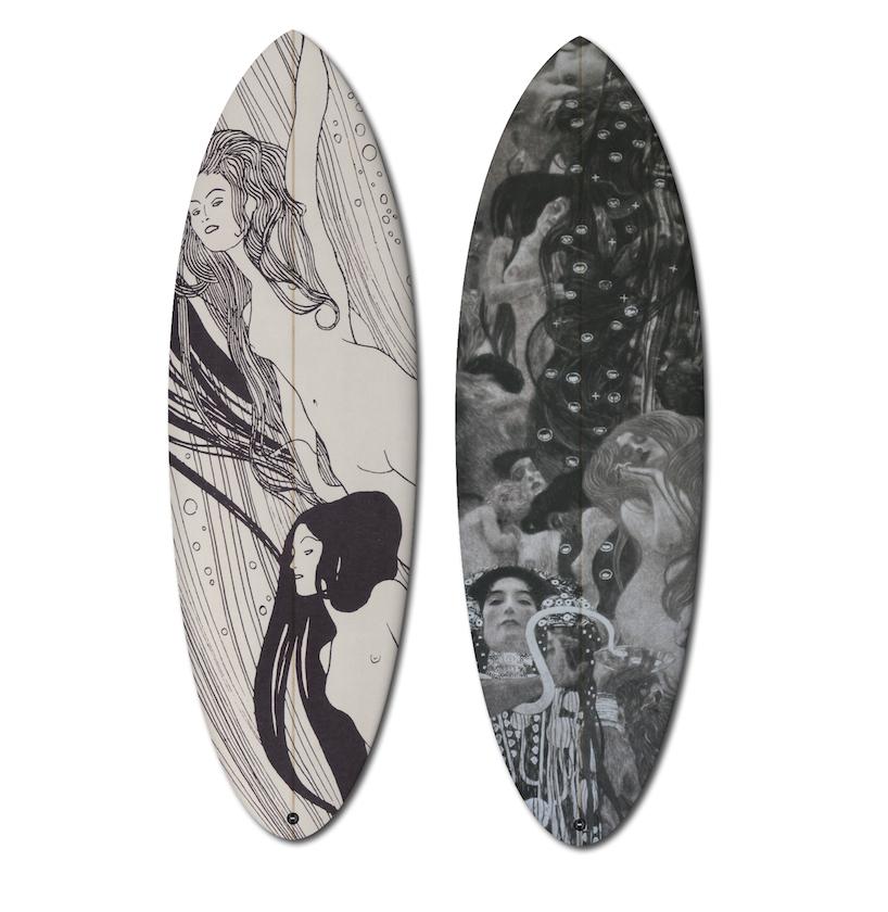 művészi szörfdeszkák - Gustav Klimt alkotásai alapján