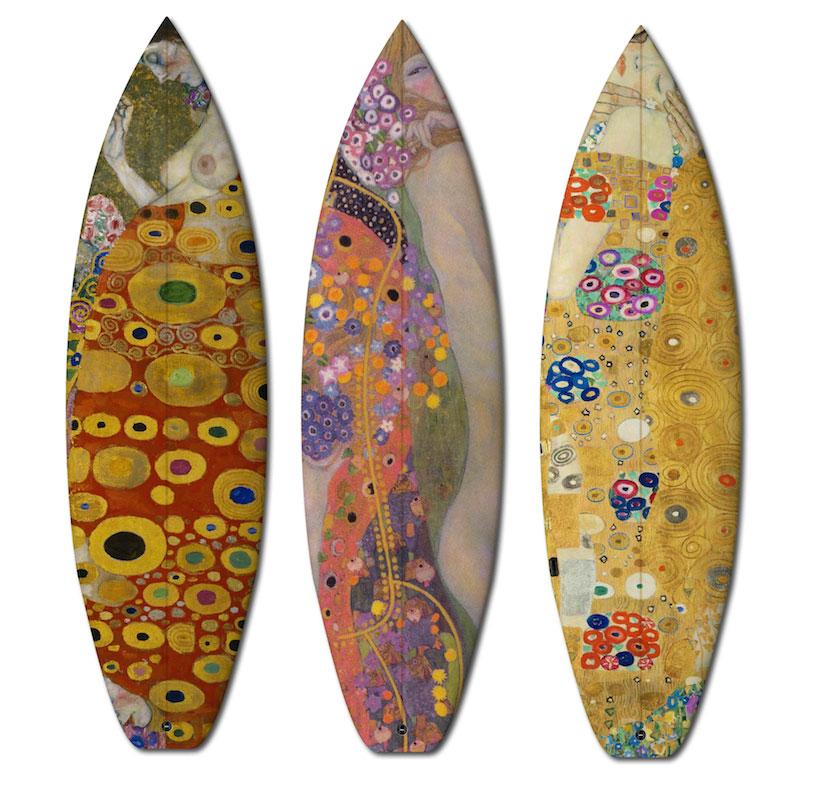 szörfdeszkák - Gustav Klimt alkotásai alapján