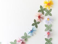 Virágfüzér papírból