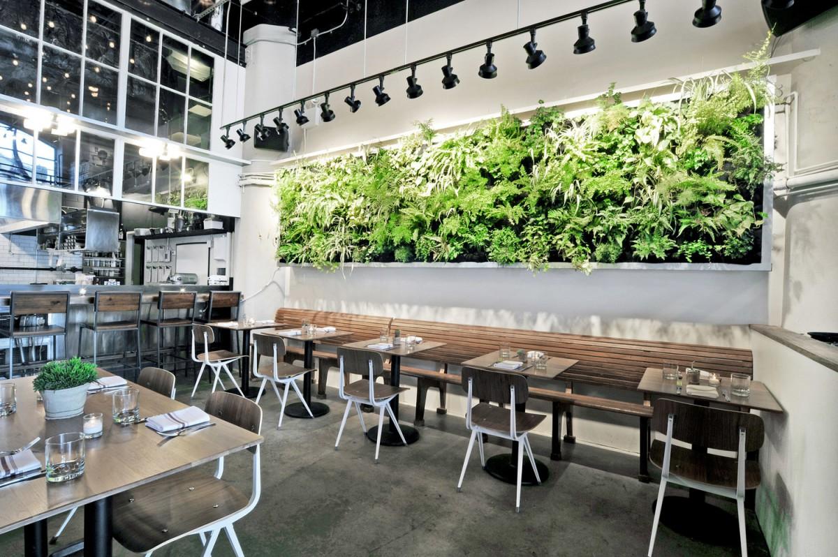 zöldfal étteremben
