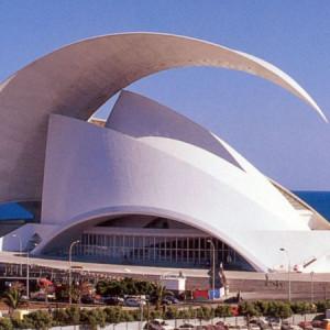 A Tenerifén álló koncertteremről (tervező: Santiago Calatrava).