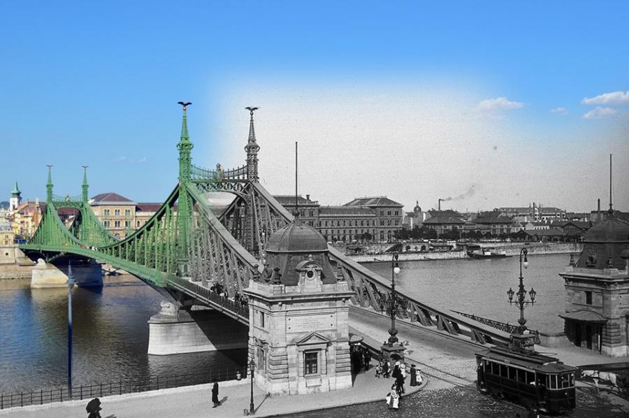 A millenniumi esztendőben új híddal is gazdagodott a főváros. Hogy megőrizzék az utókor számára, a Ferenc József híd alapokmányát elrejtették a hídban. Tippeld meg, hogy hol!